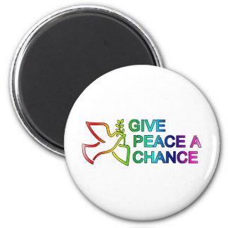 Give Peace a Chance (Rainbow) Fridge Magnet