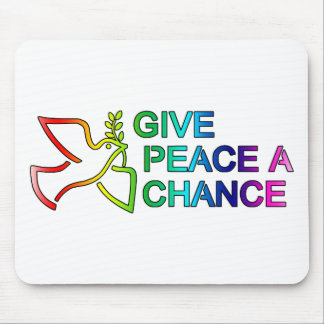 Give Peace a Chance Rainbow Mouse Pad