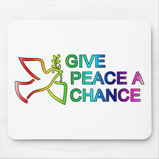 Give Peace a Chance (Rainbow) Mouse Pad