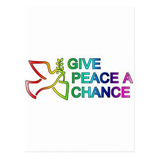 Give Peace a Chance (Rainbow) Postcard