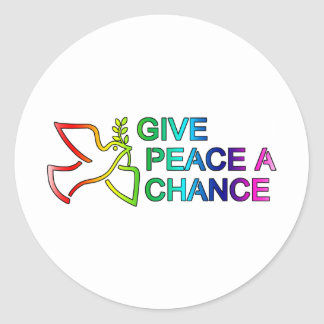 Give Peace a Chance (Rainbow) Round Sticker
