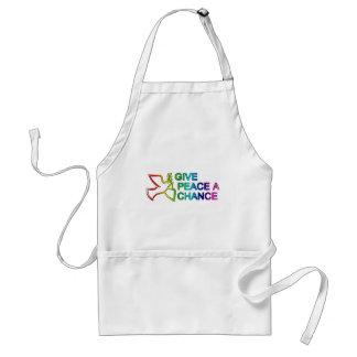 Give Peace a Chance (Rainbow) Standard Apron