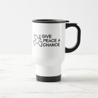 Give Peace a Chance Stainless Steel Travel Mug