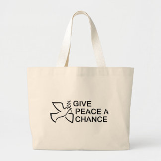 Give Peace a Chance Tote Bags