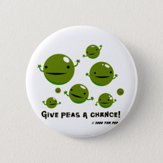 Give Peas a Chance 6 Cm Round Badge
