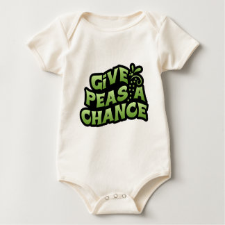 Give Peas A Chance Baby Bodysuit