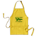 Give Peas A Chance Funny Peace Apron Humour