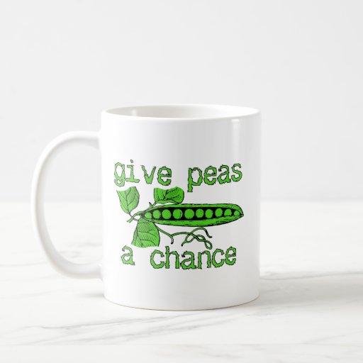 Give Peas A Chance Funny Peace Mug Humor
