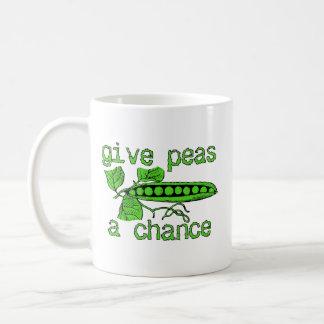 Give Peas A Chance Funny Peace Mug Humour