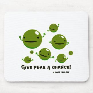 Give Peas a Chance Mouse Mat