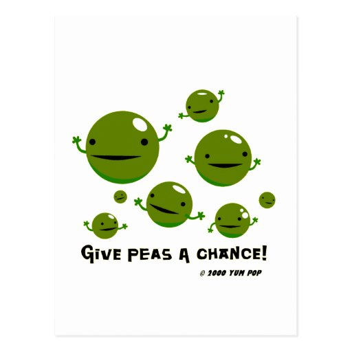 Give Peas a Chance Postcards
