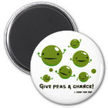 Give Peas a Chance Refrigerator Magnet