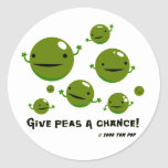 Give Peas a Chance Round Sticker