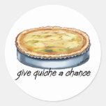Give Quiche a Chance Round Sticker