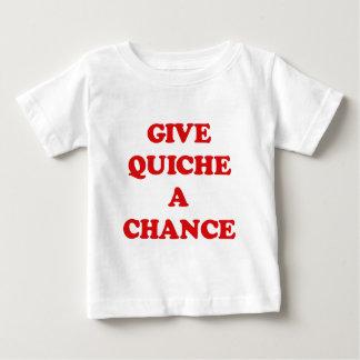GIVE QUICHE A CHANCE T-SHIRT