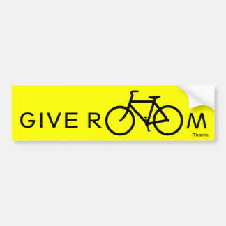 Give room to bikes bumper sticker