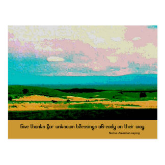 give thanks blessing postcards