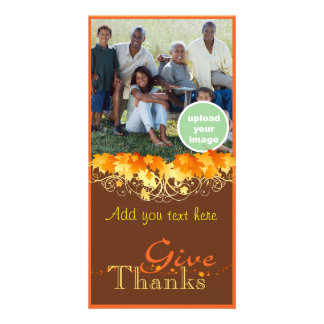 Give Thanks Custom Photo Card
