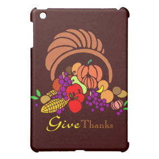 Give Thanks - Horn of Plenty Cover For The iPad Mini