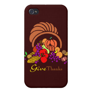 Give Thanks - Horn of Plenty iPhone 4/4S Covers