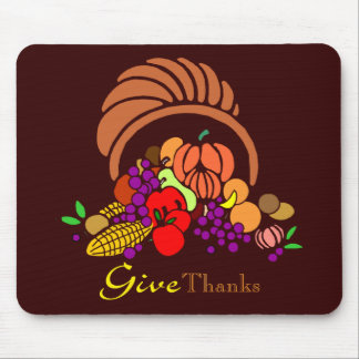 Give Thanks - Horn of Plenty Mouse Pad