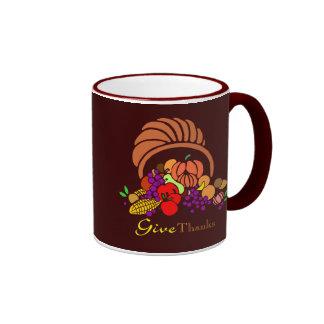 Give Thanks - Horn of Plenty Mugs