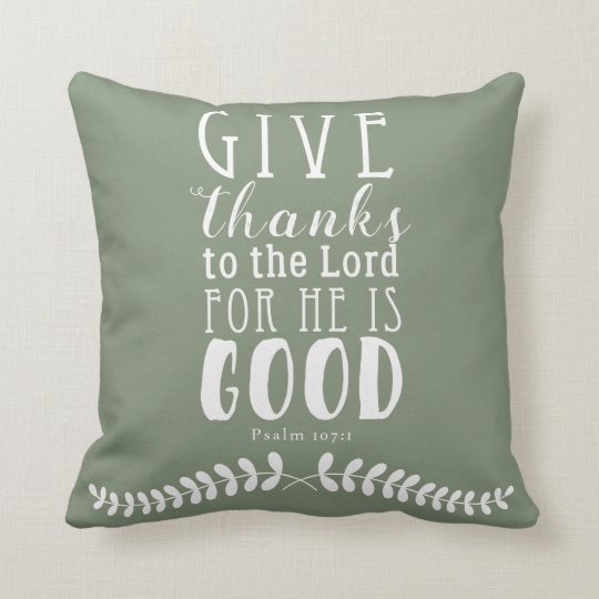 Give Thanks Pillow Customised Colour