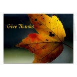 Give Thanks/ - Ralph Waldo Emerson Greeting Card