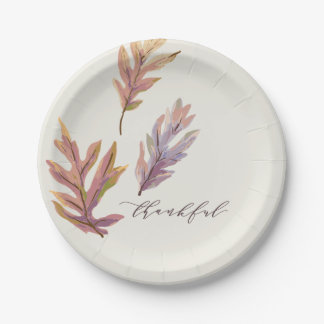 Give Thanks Thanksgiving plates