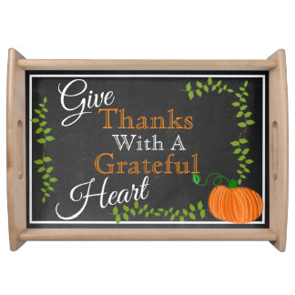 Give Thanks This Thanksgiving Serving Tray