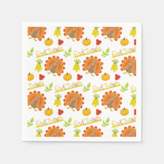 Give Thanks Turkey Disposable Napkins