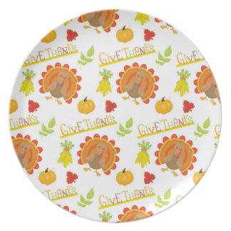 Give Thanks Turkey Plate