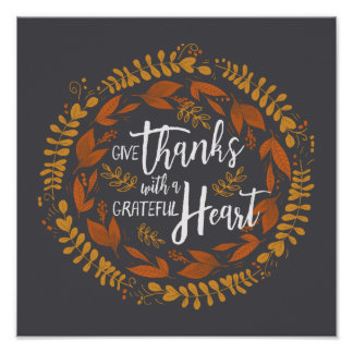 Give Thanks with a Grateful Heart Art Print