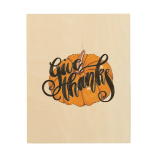 Give Thanks Wood Wall Art