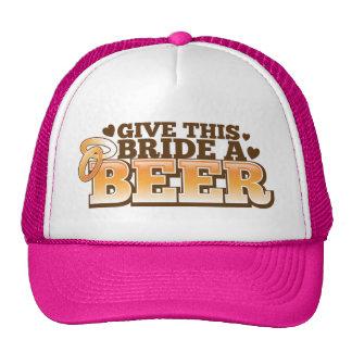 GIVE THIS BRIDE A BEER Beer Shop design Cap