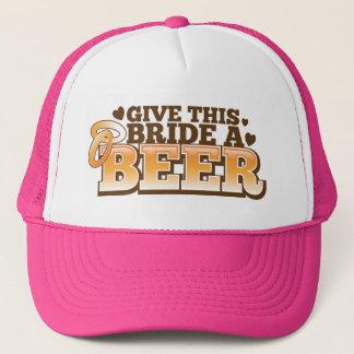 GIVE THIS BRIDE A BEER Beer Shop design Trucker Hat