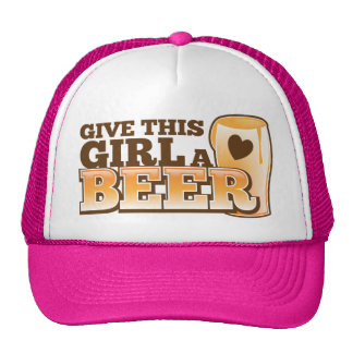 GIVE THIS GIRL A BEER design from The Beer Shop Cap