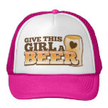 GIVE THIS GIRL A BEER design from The Beer Shop Mesh Hats