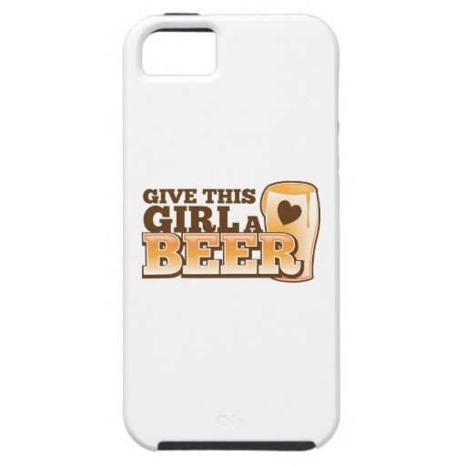 Give this girl a Beer ND iPhone 5 Cases