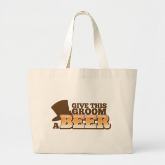 GIVE THIS GROOM A BEER wedding marriage beer Canvas Bag