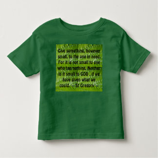 give toddler shirt