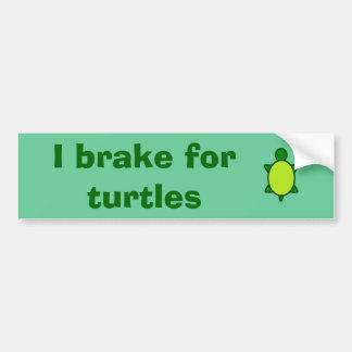 Give turtles a brake! bumper sticker