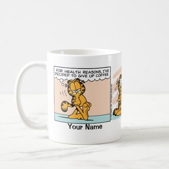 """Give Up Coffee"" Garfield Comic Strip Coffee Mug"