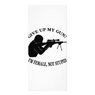 Give Up My Gun? I'm Female Not Stupid! Custom Rack Cards