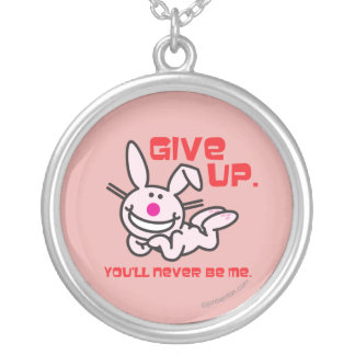 Give Up Silver Plated Necklace