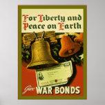 Give War Bonds ~ Vintage WW2 Poster