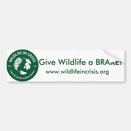 Give Wildlife a BRAKE! Bumper sticker