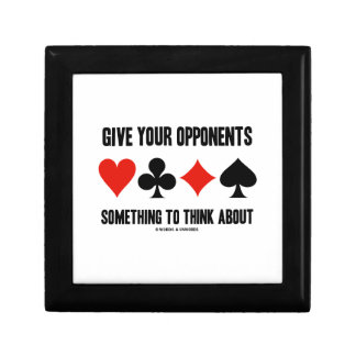 Give Your Opponents Something To Think About Small Square Gift Box