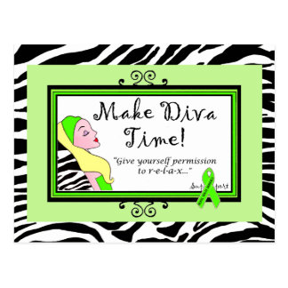 Give Yourself Permission to Relax! DivaLime Cards Postcard