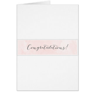 Giveaway Congratulations Greeting Card